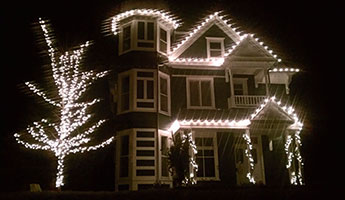 Holiday Lights Installation on Home